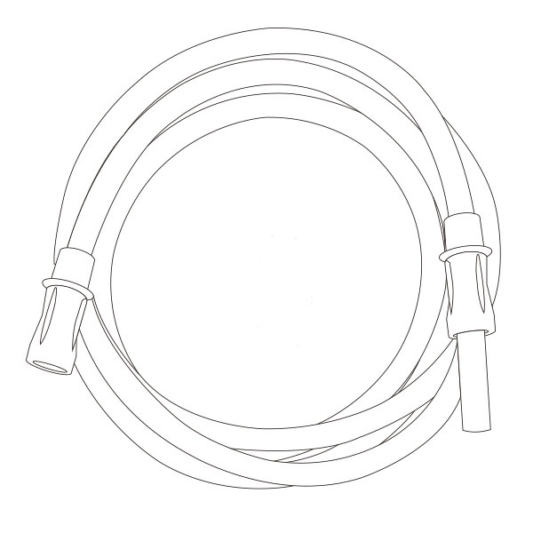 """Suction Connecting Tubing   1/4"""" X 6' RTG-03000"""