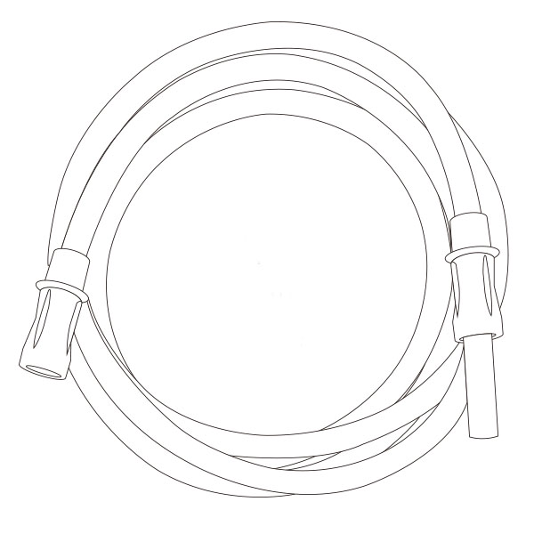 """Suction Connecting Tubing   3/16"""" X 6' RTG-03004"""