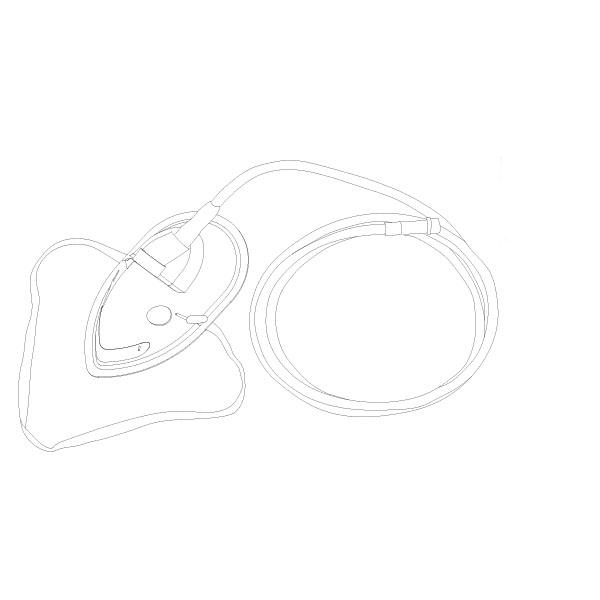 Oxygen Mask PED Standard Connector RTG-04002