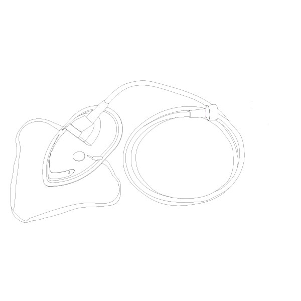 Oxygen Mask PED Universal Connector RTG-04003