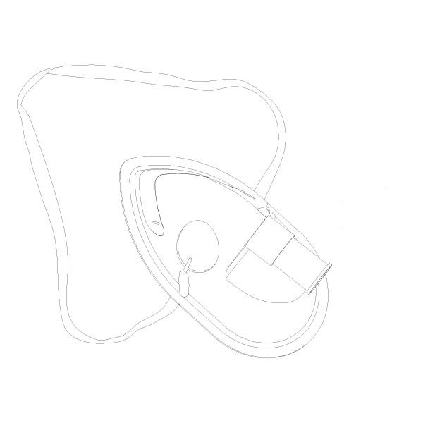 Oxygen Aerosol Mask Standard PED RTG-04013