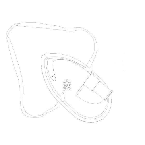 Oxygen Aerosol Mask High Concentration Adult RTG-04014