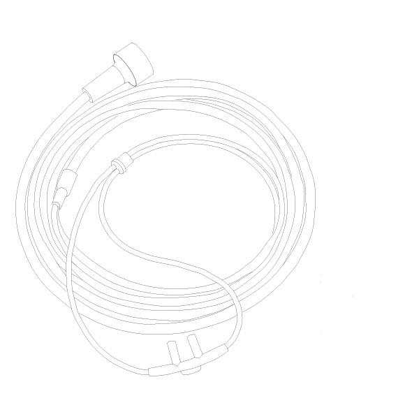 Oxygen Nasal Cannula Standard Nasal Tip 7' Tubing Universal Connector Adult RTG-05001