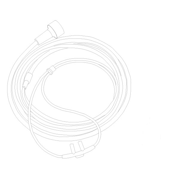 Oxygen Nasal Cannula Standard Nasal Tip 14' Tubing Universal Connector Adult RTG-05003