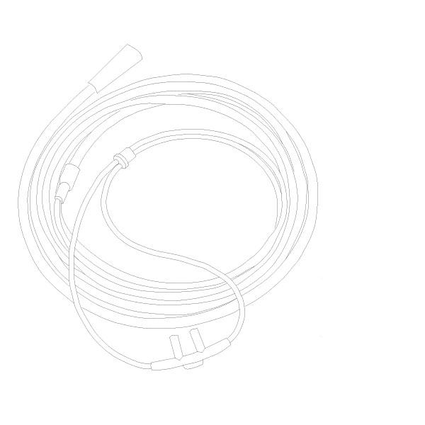 Oxygen Nasal Cannula Standard Nasal Tip 50' Tubing Standard Connector Adult RTG-05005