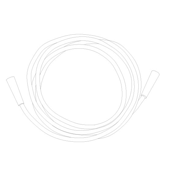 Oxygen Tubing 25' Standard Connector RTG-06005