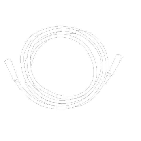 Oxygen Tubing 30' Standard Connector RTG-06006